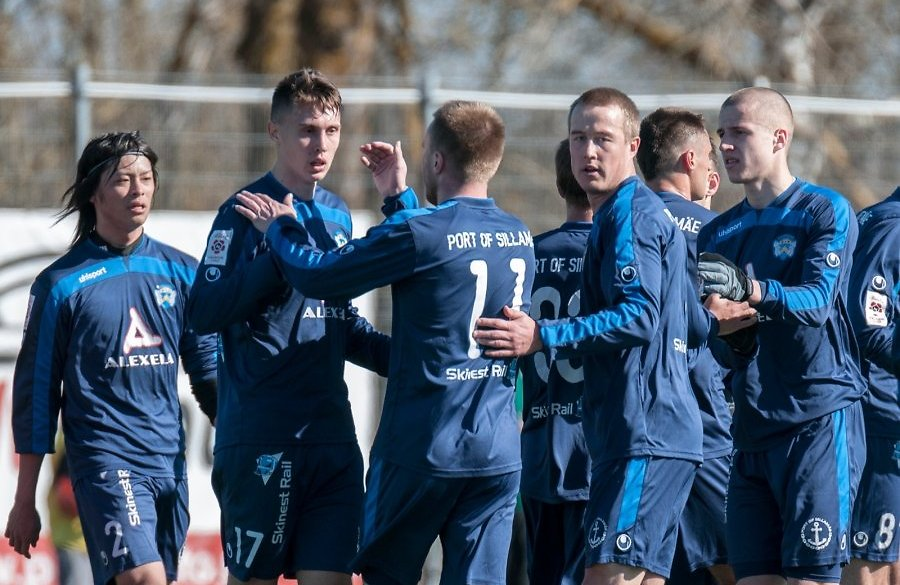 Nothing new also for the blue away jersey at Sillamäe (Delfi.ee)