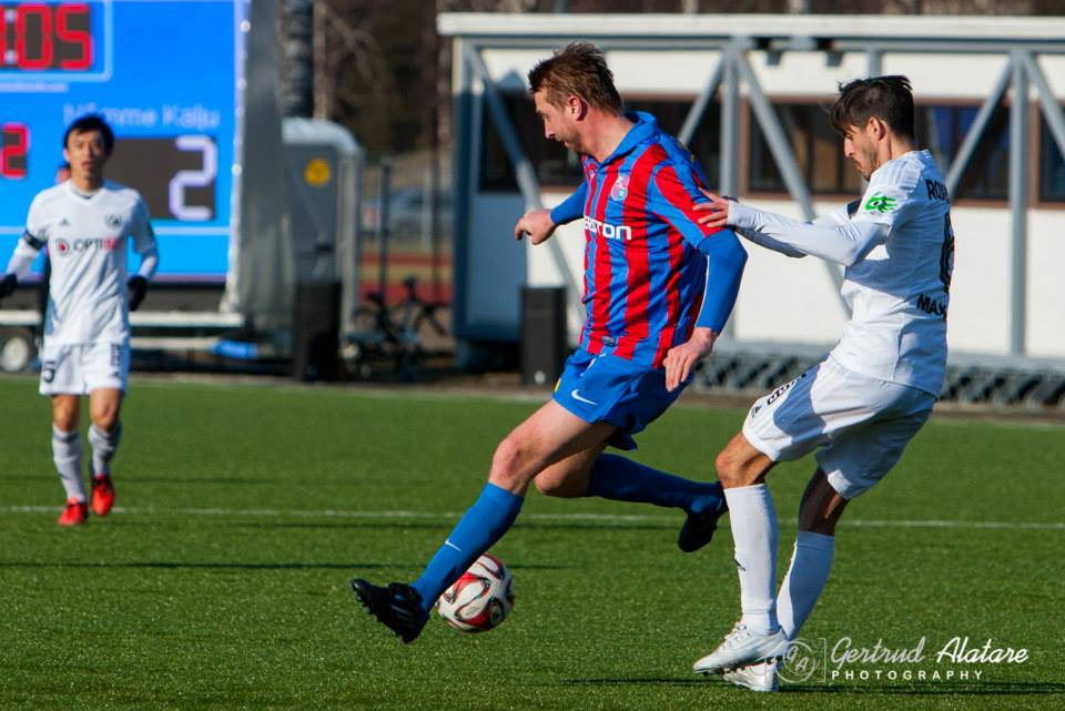 Zahovaiko missed the chance to score his first goal with Paide (Getrud Alatare Photography)