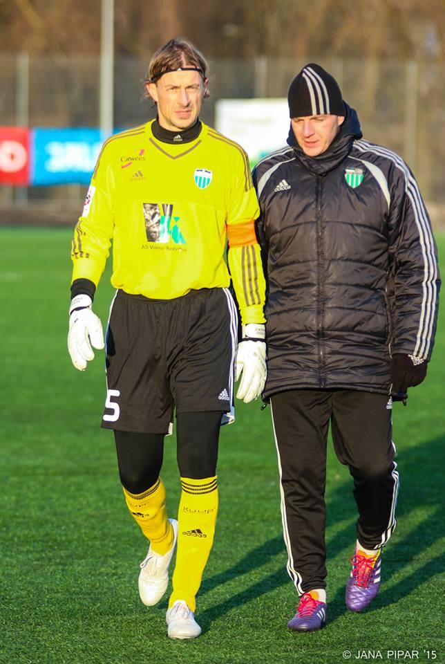 Sergei Pareiko back in Levadia's clothes (Jana Pipar/Levadia Facebook Page)