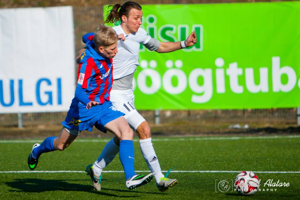 Vosko in action against Paide. He might have convinced Pehrsson to bring him to Lucene (Gertrud Alatare Photography)