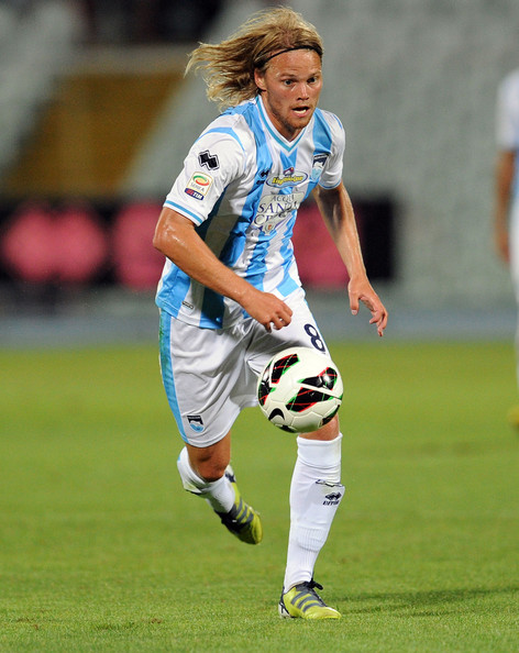 Birkir Bjarnason is a regular at Pescara (Italian Serie B) counting also on a sting at Sampdoria.