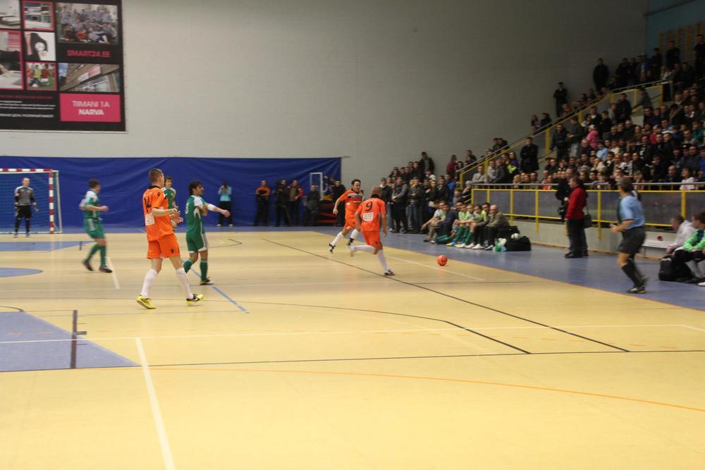 2013 a. Finaal. Narva United – Anži Tallinn. 576 pealtvaatajat. Foto:Narva United Facebook