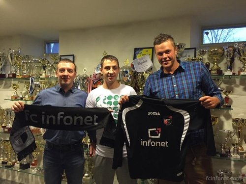 Two of the early signings: Volodin (middle) and goalkeeper Lavrentjev (fcinfonet.com)