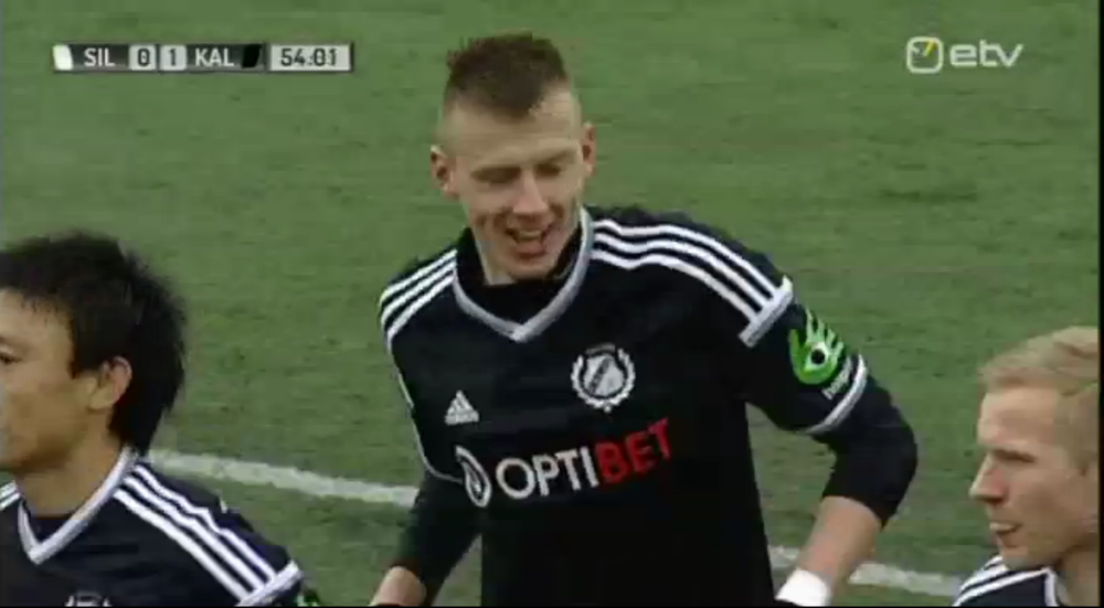 Listmann doubles Kalju's lead (screenshot: ERR)