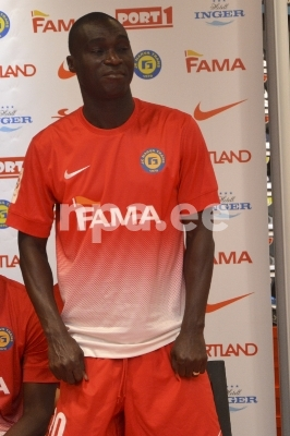 Dacosta at the team presentation back in March, his spell lasted very little (NPA.ee)