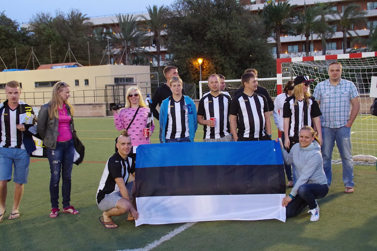 Virtsu JK proudly representing Estonia in Mallorca (VJK Google Plus)