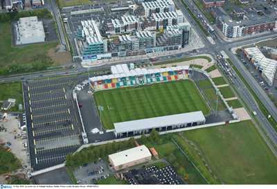An aerial view of Tallaght. The ground is used also for rugby games.