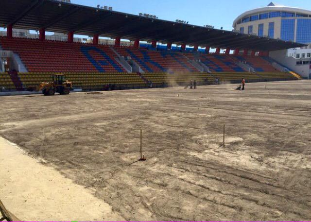 Aktobe, 21st of June: the lawn is yet to be laid (www.rumodispo.com)