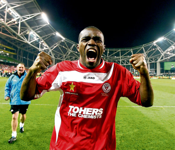 Joseph Ndo during his playing time with Sligo Rovers