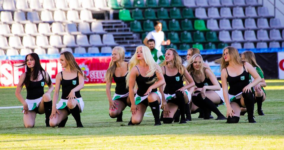 Our Englishman's eyes were caught by the beauty of the Flora Dance Team...