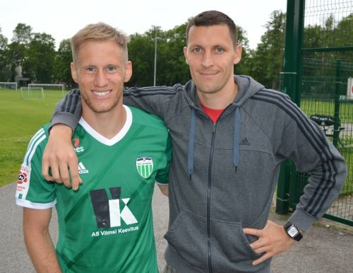 Tarmo Kink (left) with Levadia's captain and topscorer, Ingemar Teever (Levadia FC Facebook)