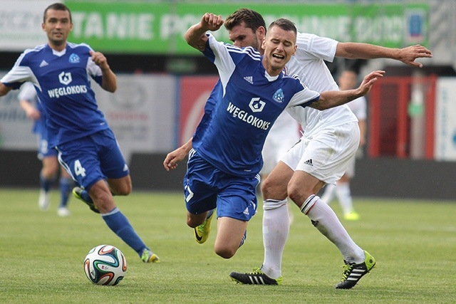 FC Vaduz against Ruch Chorzow from Poland