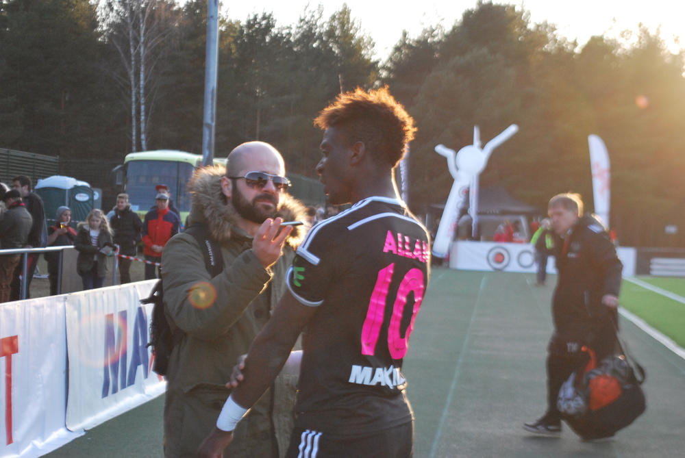 Allan interviewed by our reporter, Deni Delev, after a game (Rumori di Spogliatoio)