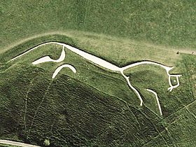 Uffington White Horse Shot from Above