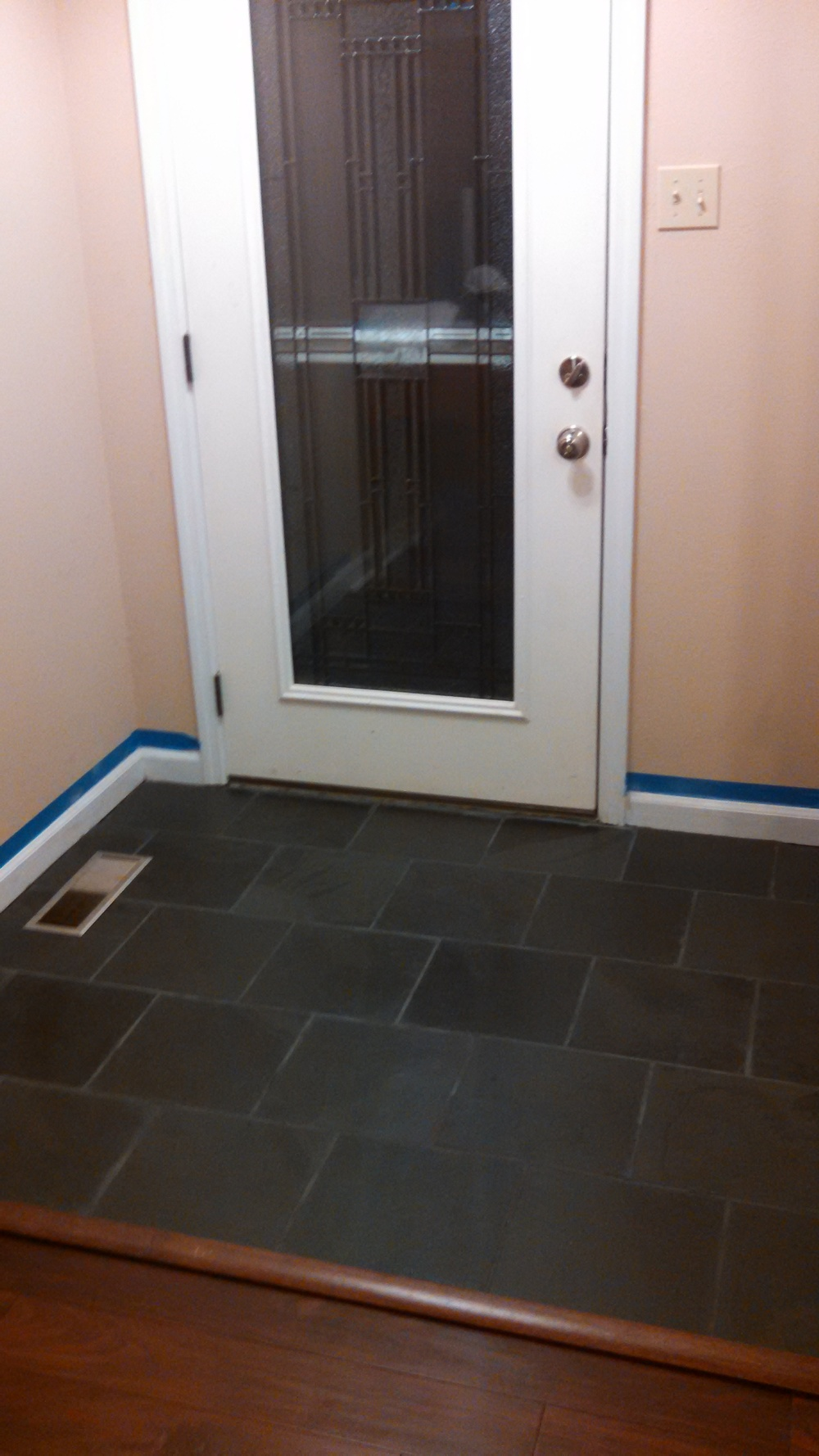 Finished Entry way slate tile