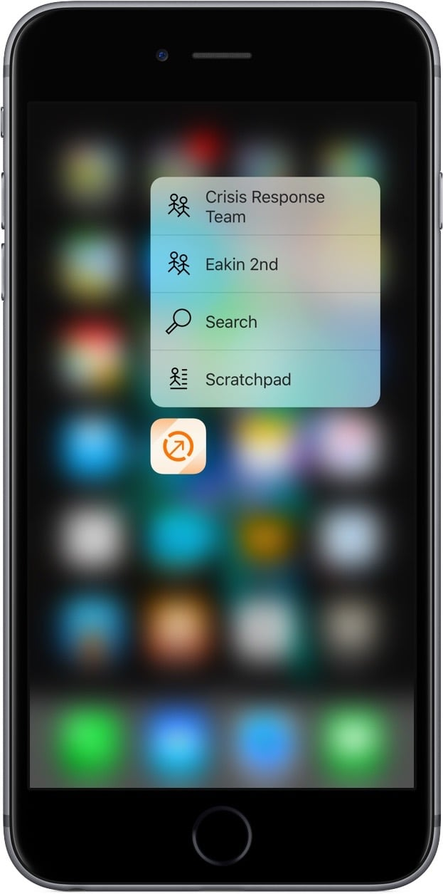 Interact's 3D Touch Shortcuts