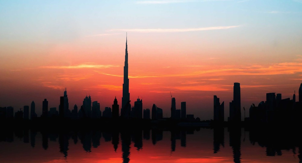 Dubai's Skyline dominated by Burj Khalifa