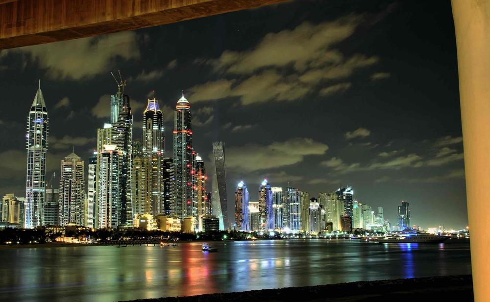 Dubai Marina spectacular skyscrapers