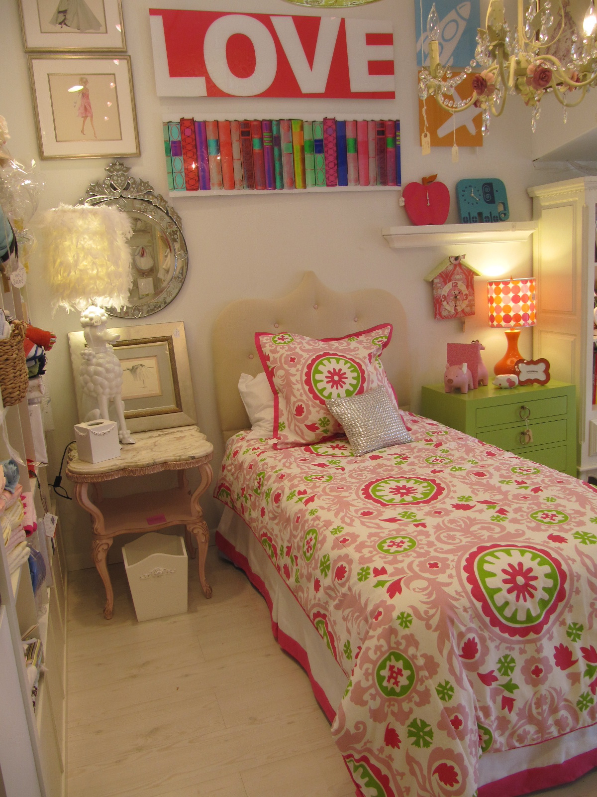 Pink And Green Girls Bedroom Poppy Pink And Green Bedding For Girls Cici Crib Interiors
