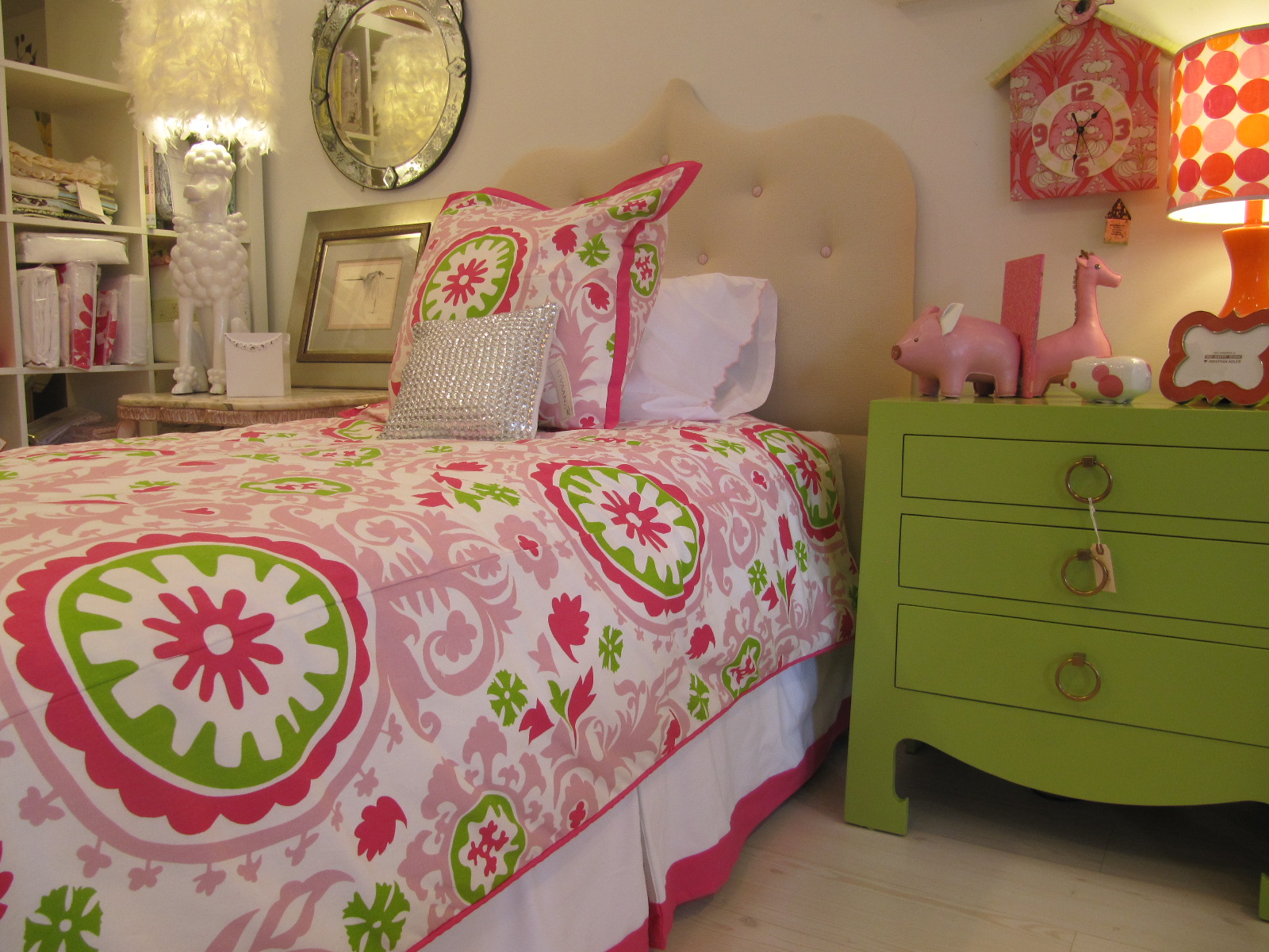 Poppy Pink and Green Bedding for Girls! — CICI CRIB INTERIORS