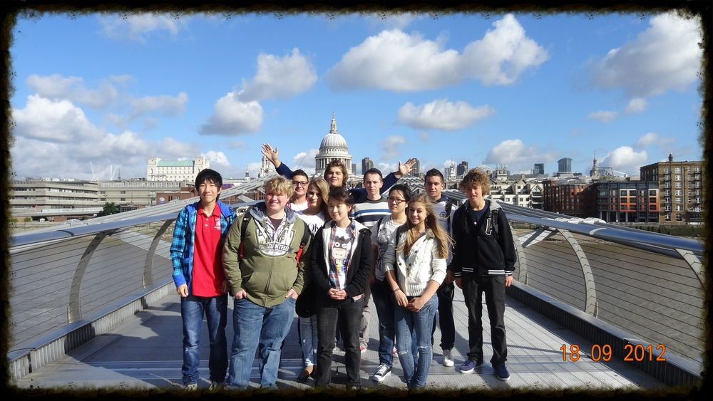"""More """"chill"""" times: The 11th grade trip - taken just as the students began their two-year IB journey."""