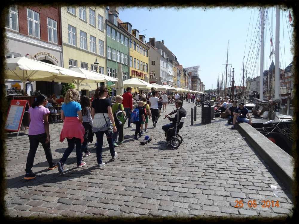 "Students on our ""walking tour"" in Copenhagen this morning."