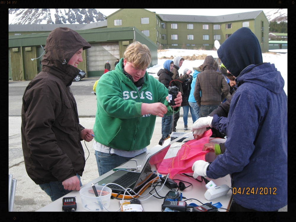 My son (center) with his CanSat team in Norway.  It was fascinating to watch him work under pressure during this competition.