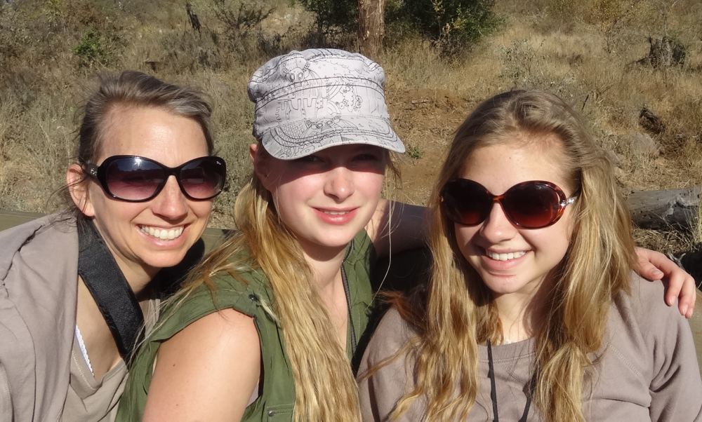 On the game transect on which we saw the black rhino (the rhino is in the top right hand corner). It was so fun to share such amazing experiences with my students.