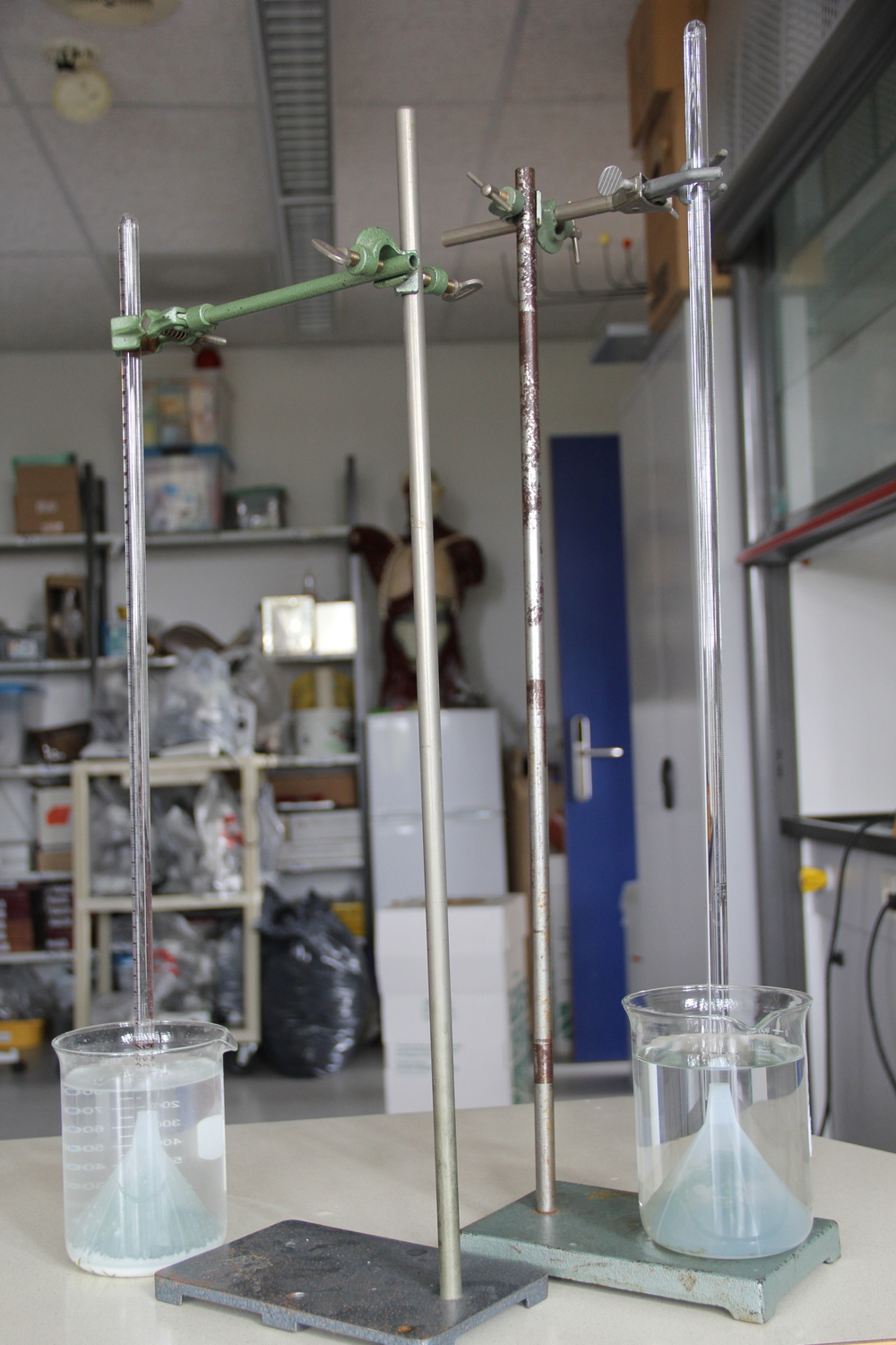 The illusive photosynthesis experiment. This student has a good start but has a lot to figure out.