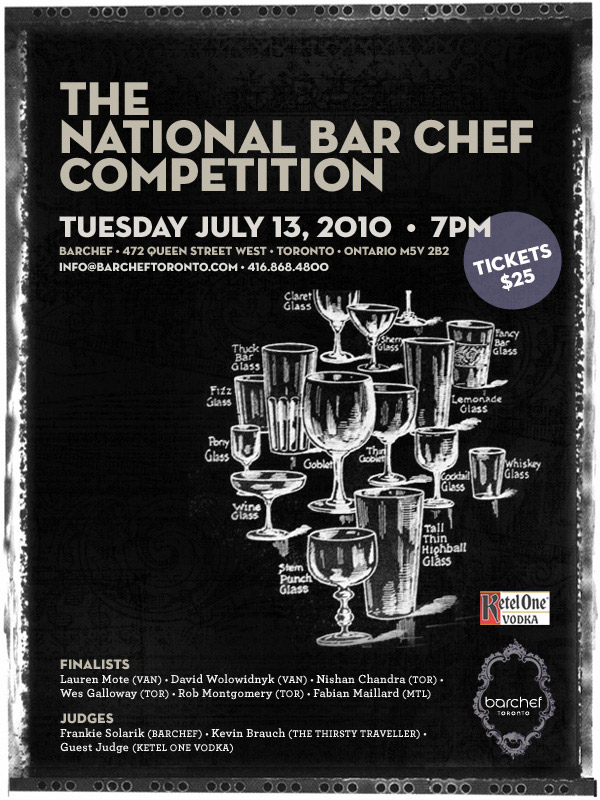 BarChef Mixology Competition 2010 poster design
