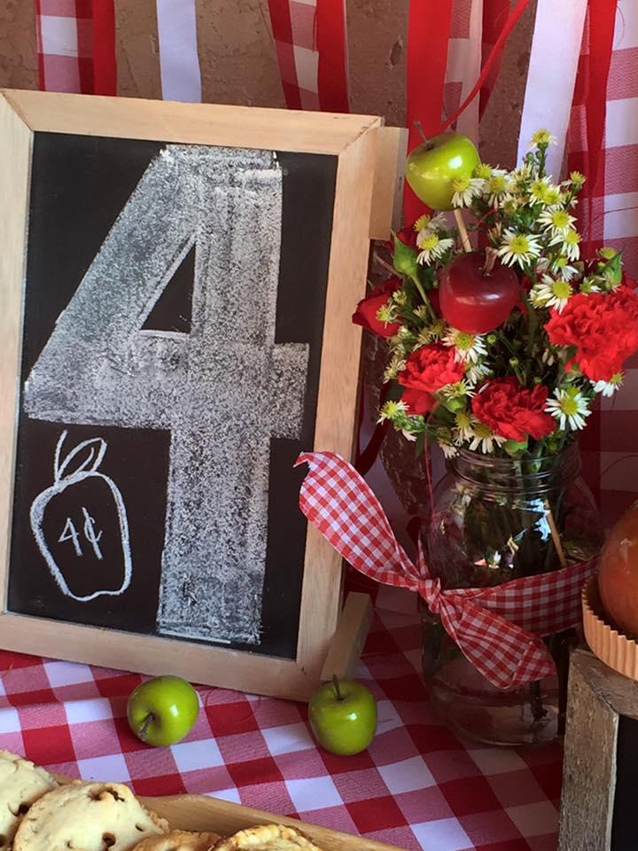 Apple Orchard Party flower arrangement