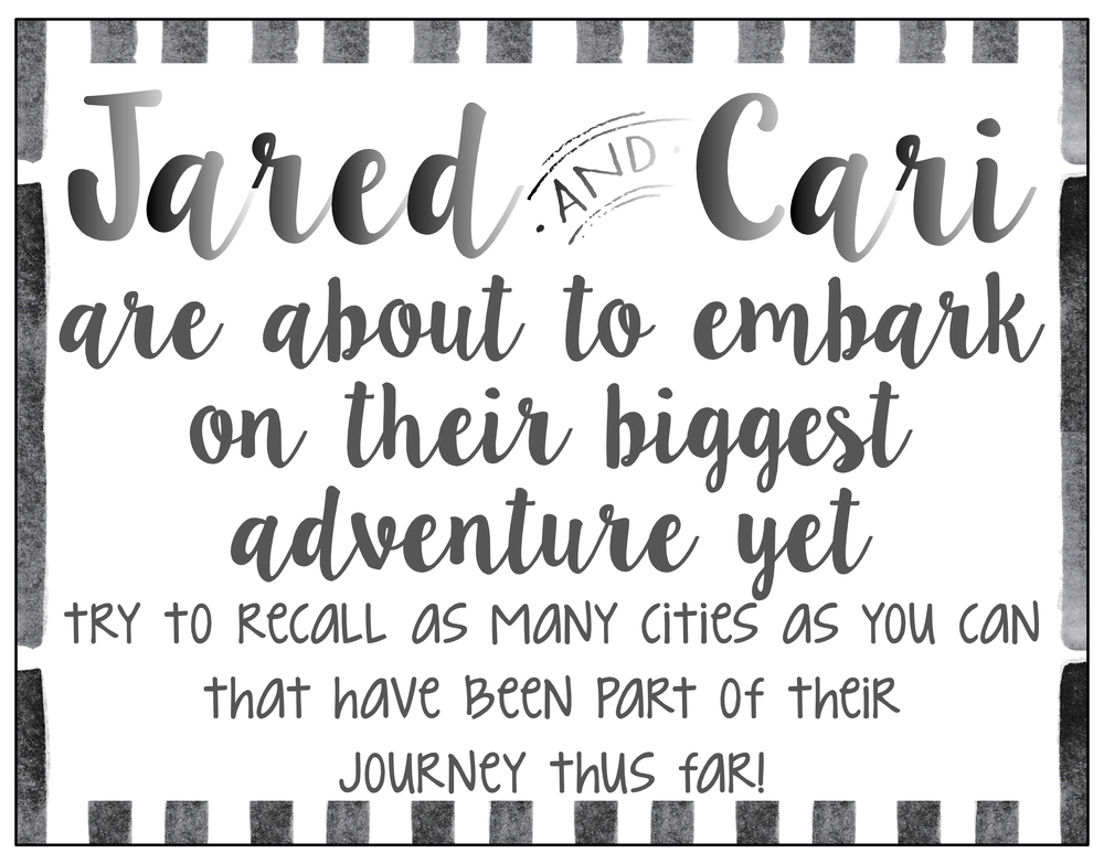 Black + White Adventure Sign