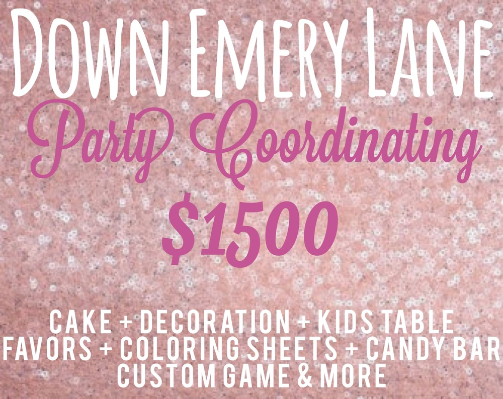Down Emery Lane Party Planning Packages