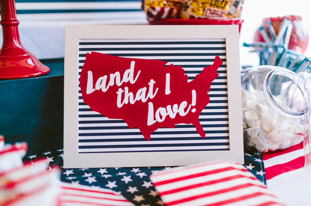 Red, White & Blue - Archer is TWO! Styled by www.downemerylane.com