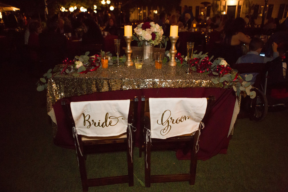 Merlot & Gold tablescape by Down Emery Lane.