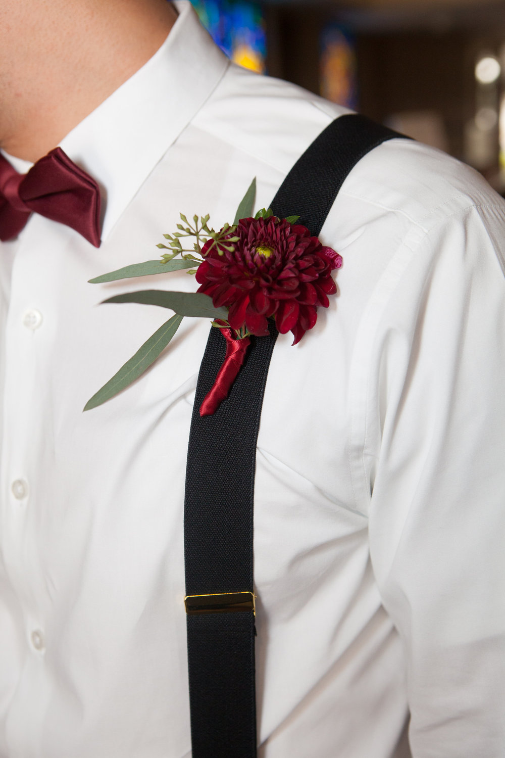 Dahlia Boutonniere by Down Emery Lane.