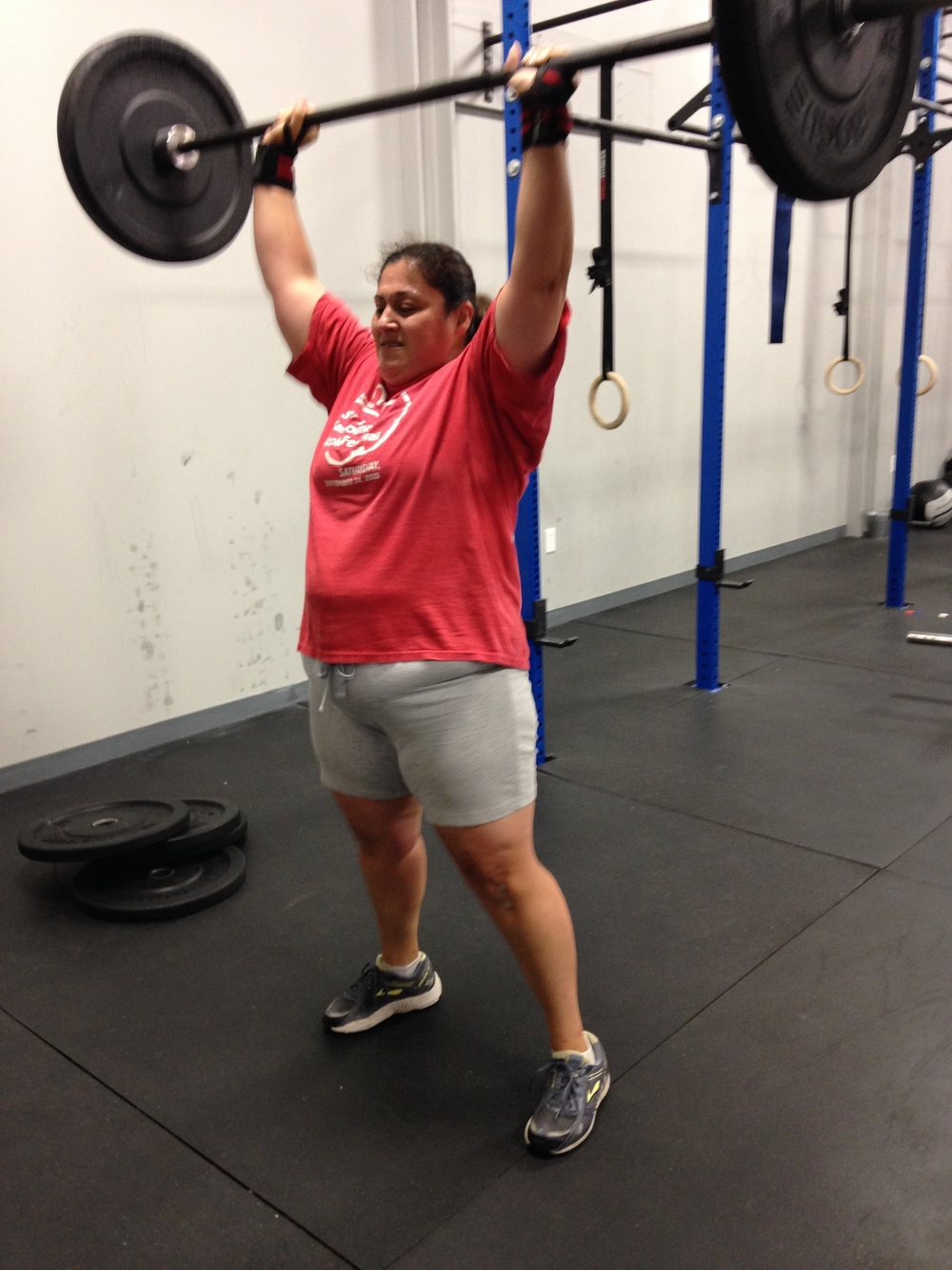 Check out Donielle RX'ing todays WOD!