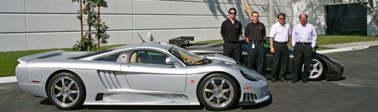 Myself, Derk Heartland, Bill Tally, and Steve Saleen,   That race car in the back ended up winning Le Mans in 2010, it was the last and finest race car we ever built in my opinion.
