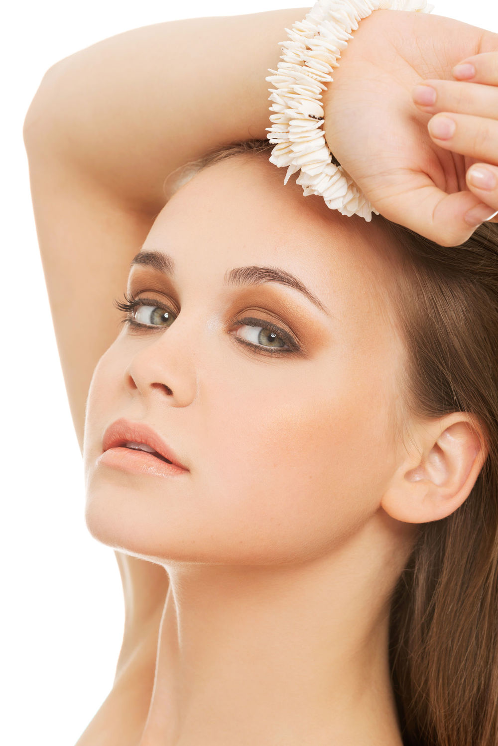 Woman getting laser hair treatment at Florida Aesthetics and Medical Weight Loss in Brandon, Fl