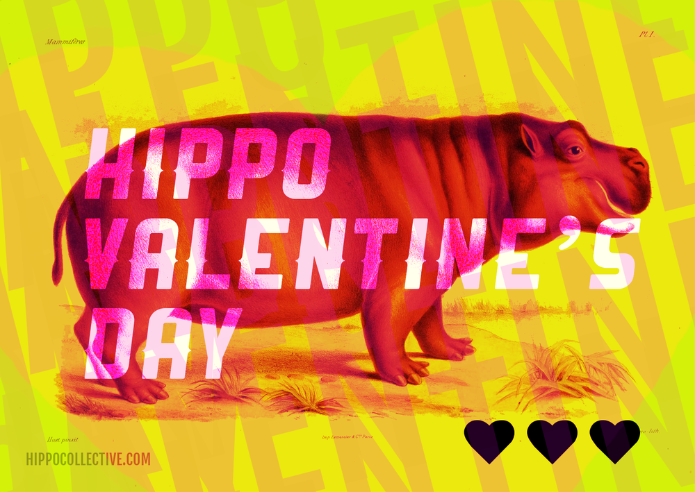 Hippo Valentine E-cards!