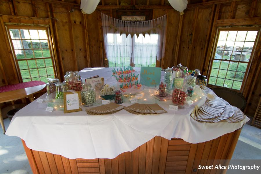 Sweet Treat display inside the summer house