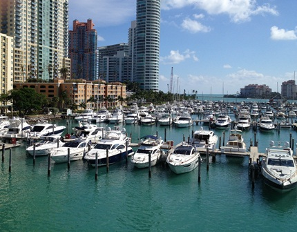 Miami Beach Marina View from Marina Office Tower to South Small Gates.jpg