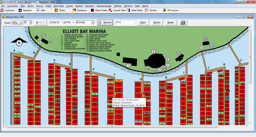 FSM's Custom Graphical Marina Layout Designed Around Your Location