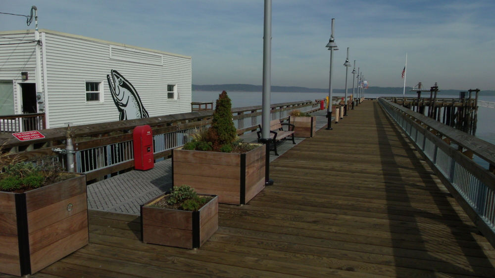 City of Tacoma Parks Department Old Town Dock Refurbishment. Eco Series Steel Dek Grey with Black Texture. Dock Designed by Reid Middleton Engineers Everett Washington. General Contractor Quigg Bros. Construction.