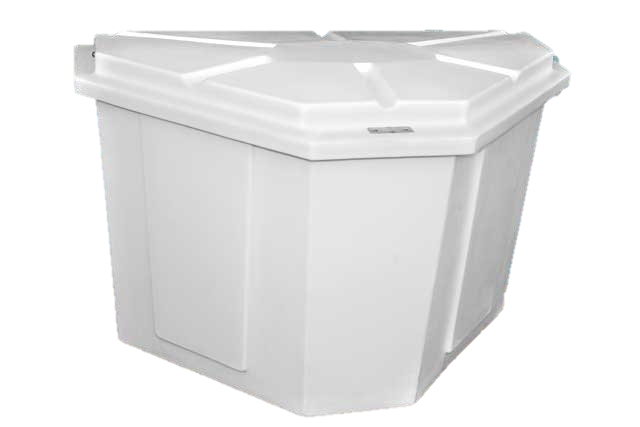 Dock Boxes: Polyethylene, Triangle, Rectangle, Trash Bins and Steps.