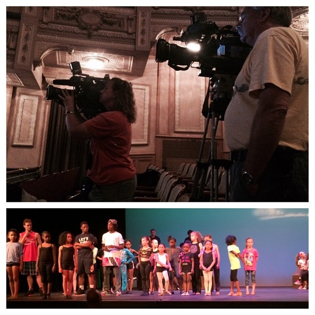 FOX and The CW @ the Merriam Theater filming the Tech Rehearsal for #debbieallen's #BOTK! TOMORROW #PHILLY get UR tix