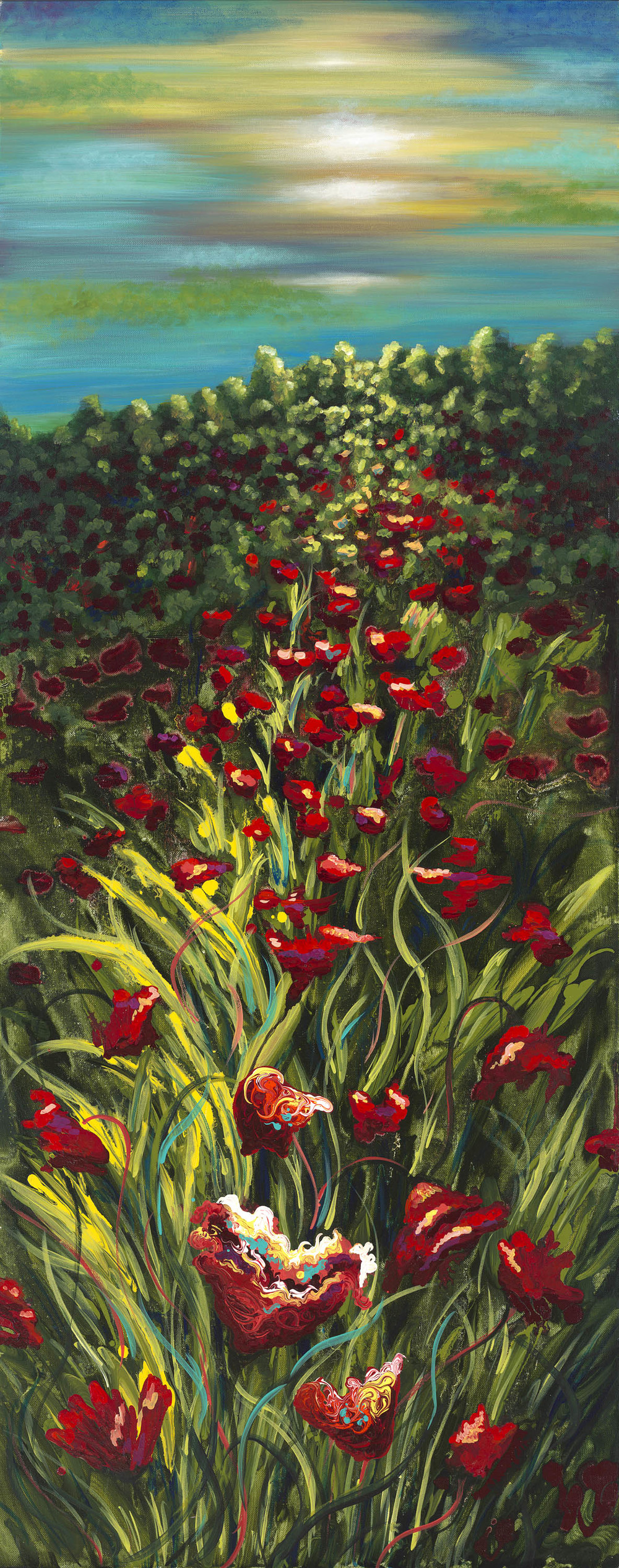 Poppies in the Sunset by Shawna C Elliott Commission