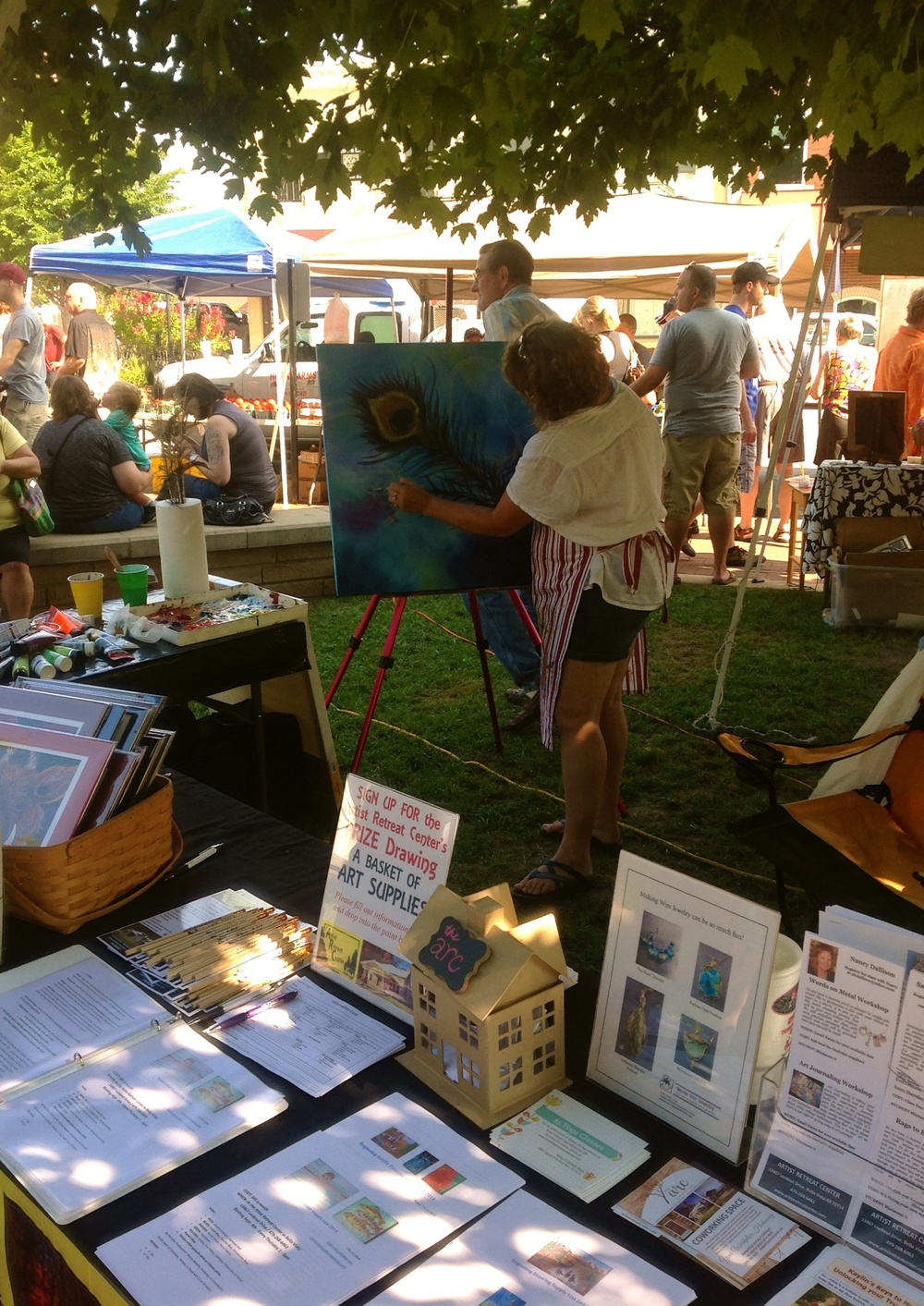 Painting live at Saturday's Bentonville Square Farmer's Market