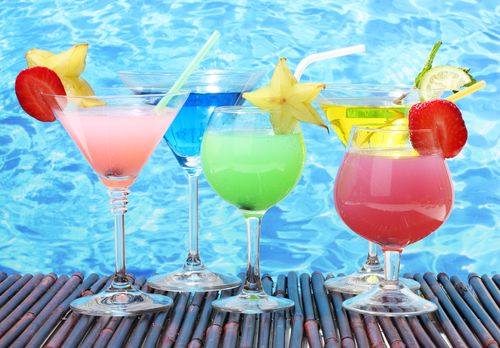 Cocktails de toutes les couleurs Pool Party