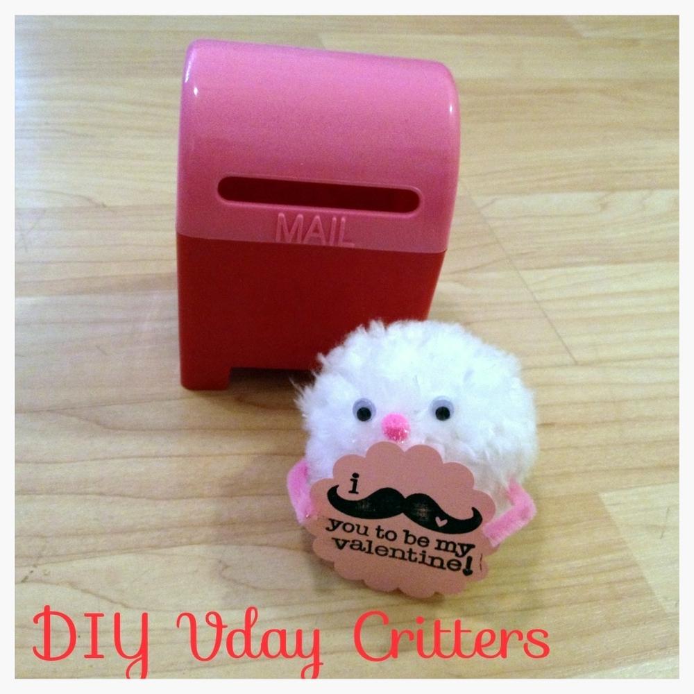 DIY Pom Pom Vday Critters